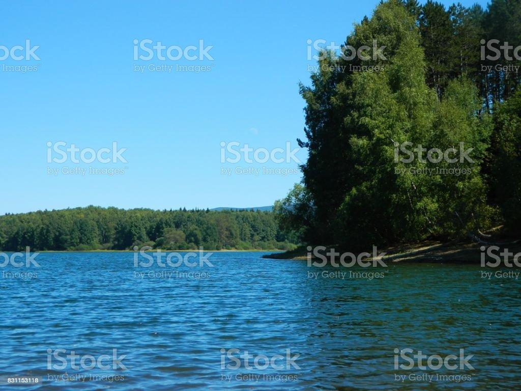 Beautiful lake water stock photo