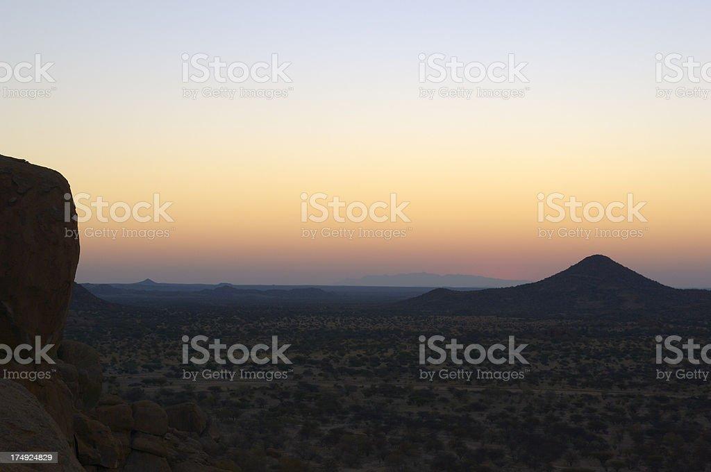 Beautiful landscape after sunset stock photo