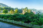 Beautiful landscape at Dalat village, a villas beside the lake