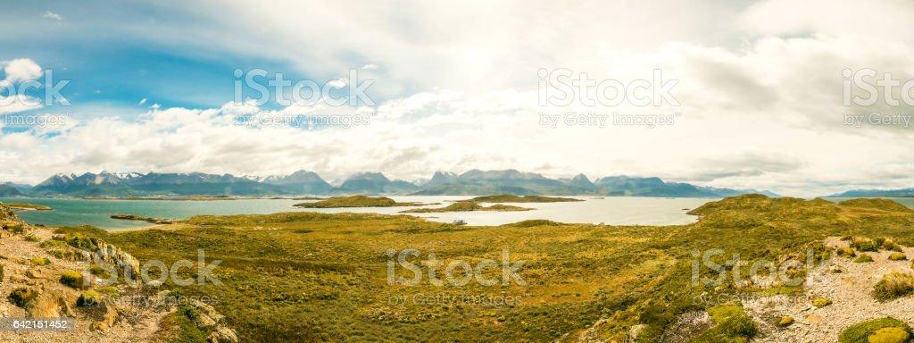 Beautiful Landscape Beagle Channel stock photo