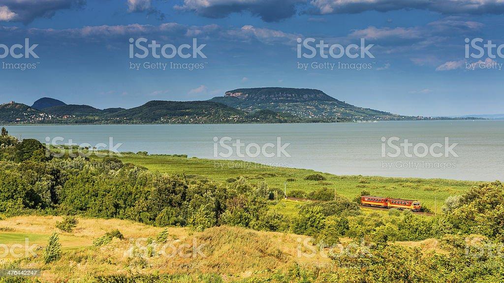 Beautiful landscape from lake Balaton (Hungary) royalty-free stock photo