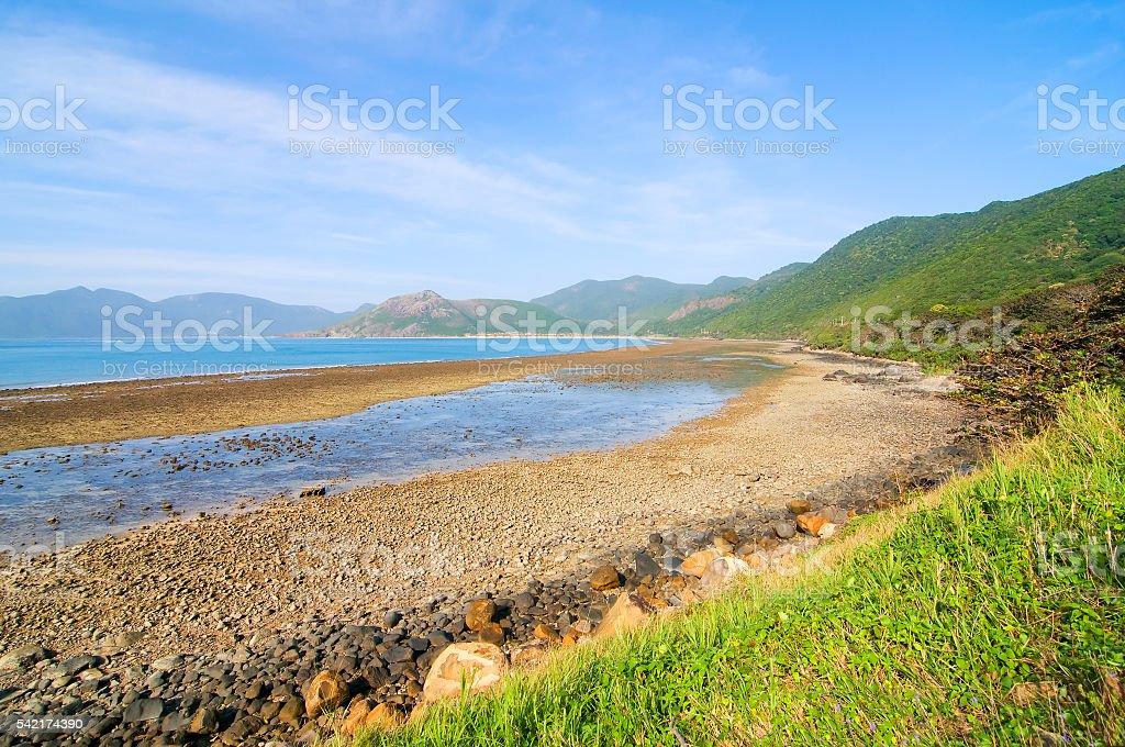 Beautiful landscape in Con Dao island, Vietnam stock photo