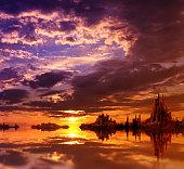 Beautiful landscape in fantasy planet