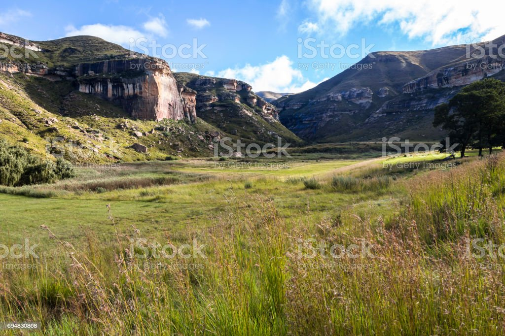 Beautiful landscape in Golden Gate Park, South Africa stock photo