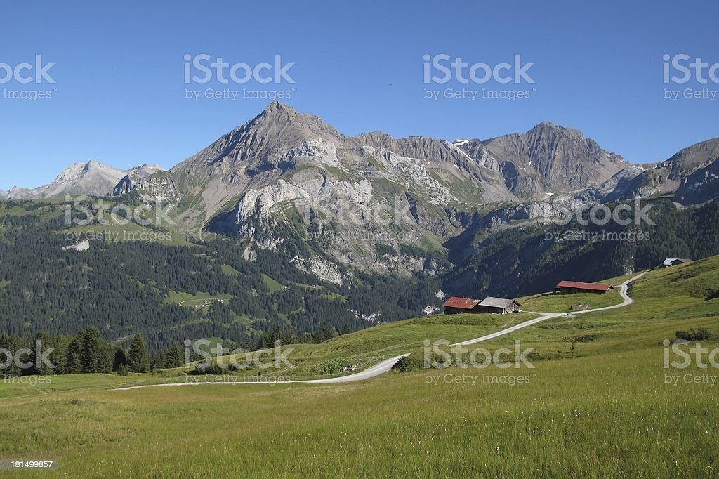Beautiful landscape in Gsteig bei Gstaad royalty-free stock photo