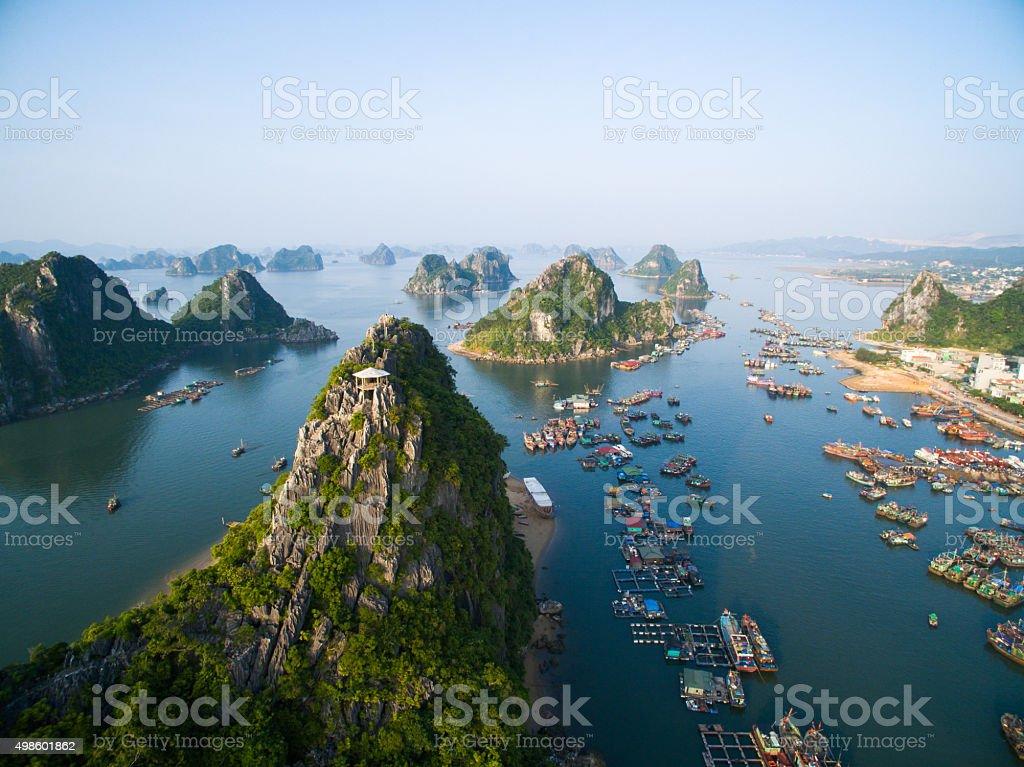 Beautiful landscape in Halong bay, Vietnam stock photo