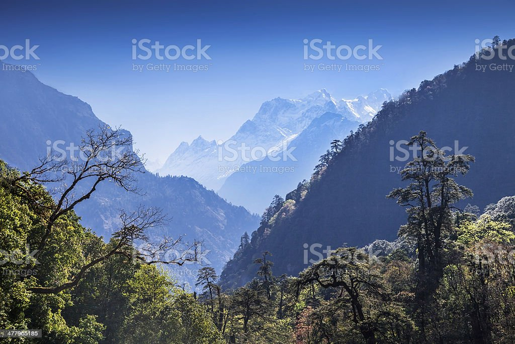 Beautiful landscape in Himalays royalty-free stock photo