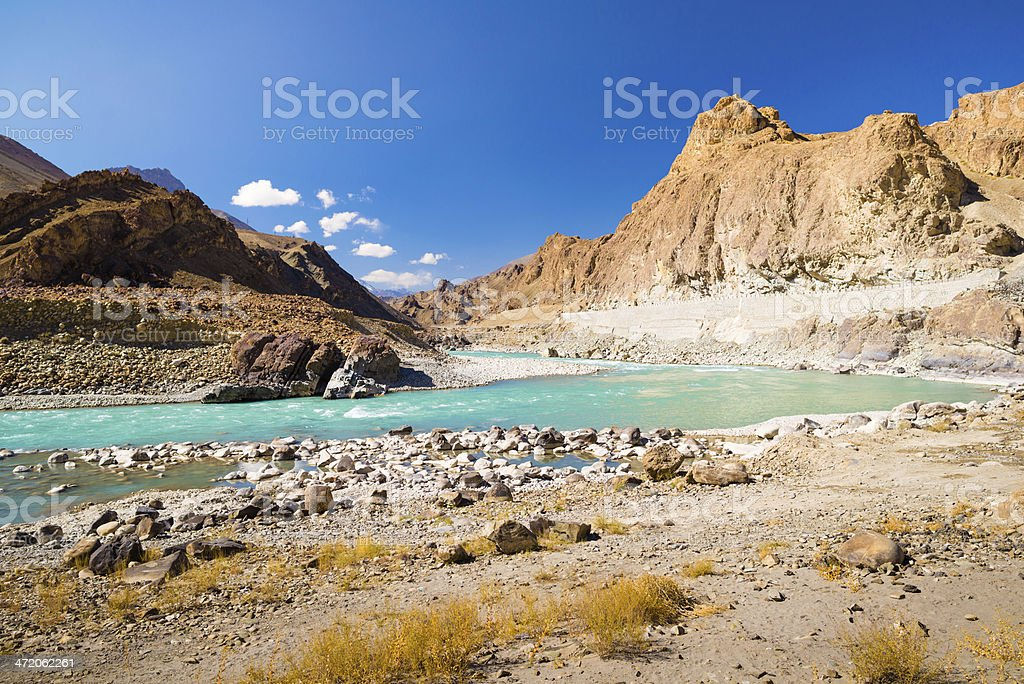 Beautiful landscape in Norther part of India royalty-free stock photo