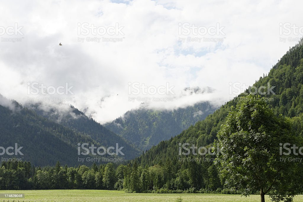 Beautiful Landscape in the alps royalty-free stock photo