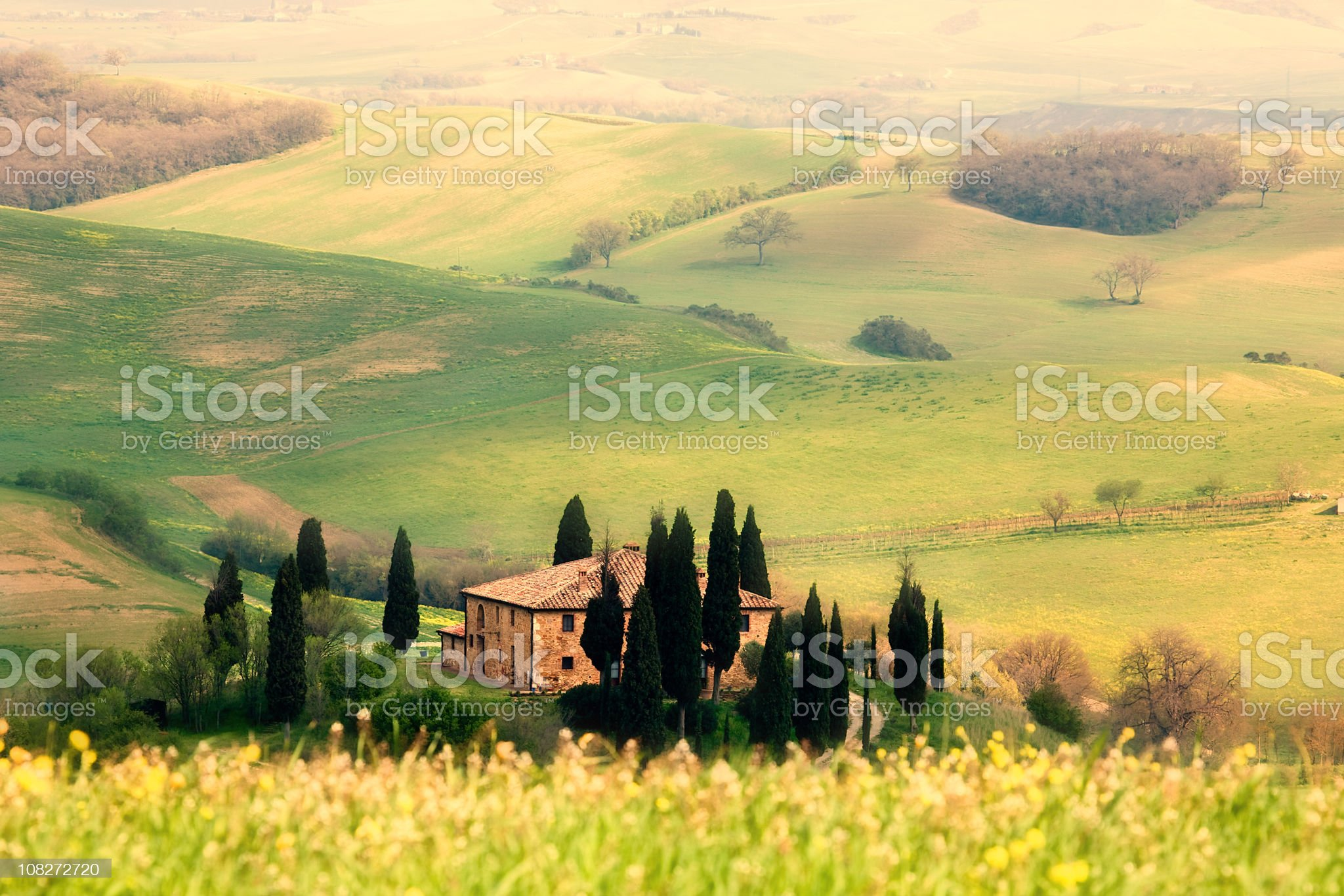 A beautiful landscape in Tuscany royalty-free stock photo