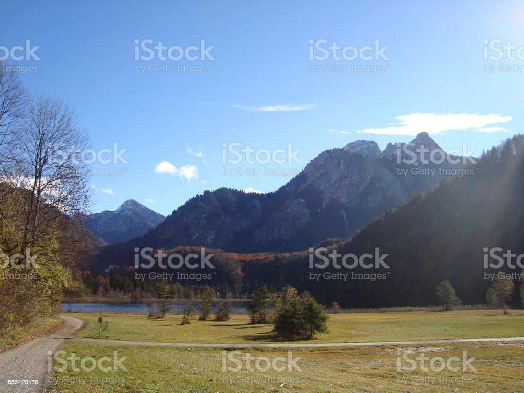 Beautiful landscape near Füssen stock photo