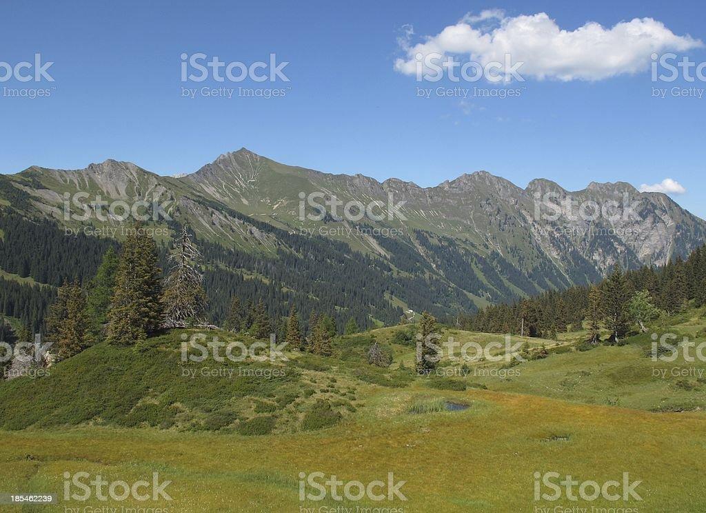 Beautiful landscape near Gstaad royalty-free stock photo