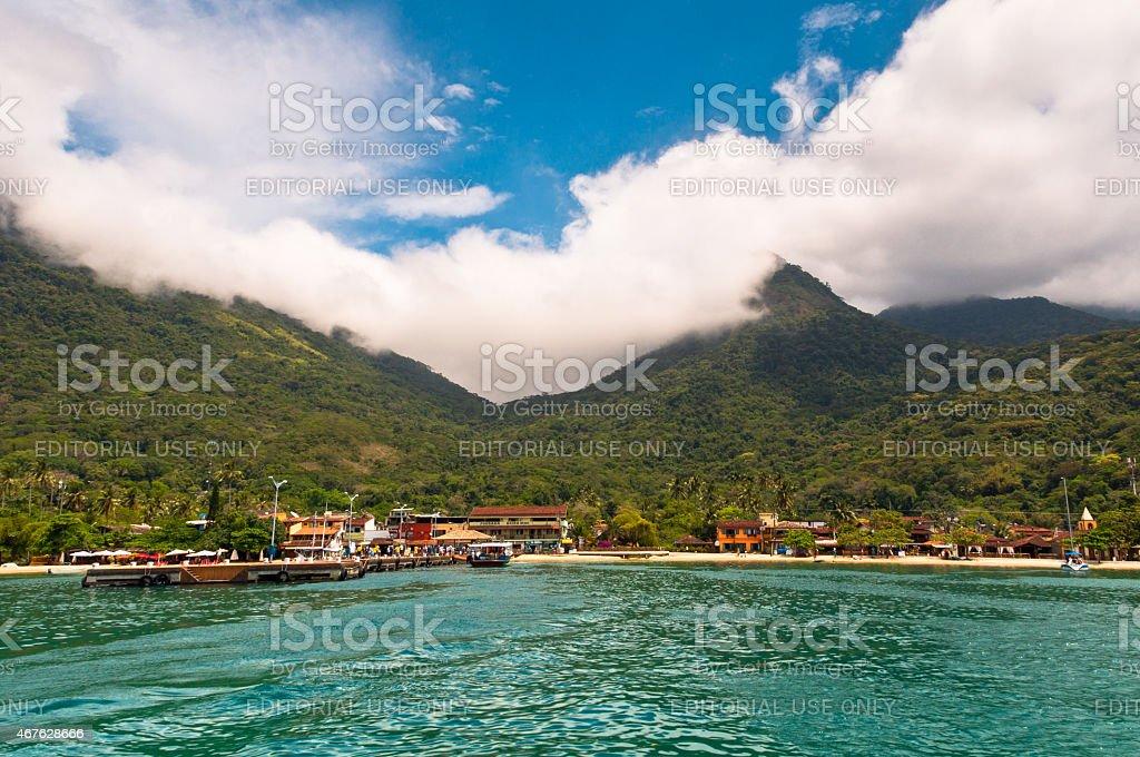 Beautiful Landscape of a Tropical Island stock photo