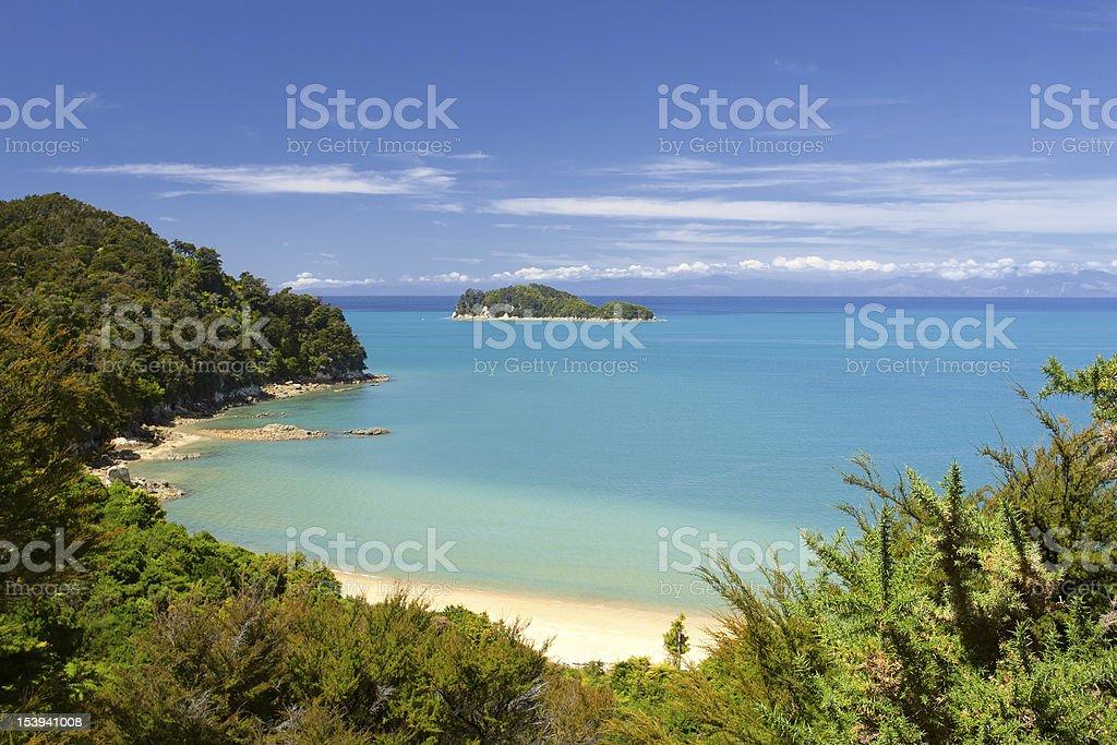 Beautiful landscape of Abel Tasman National Park stock photo