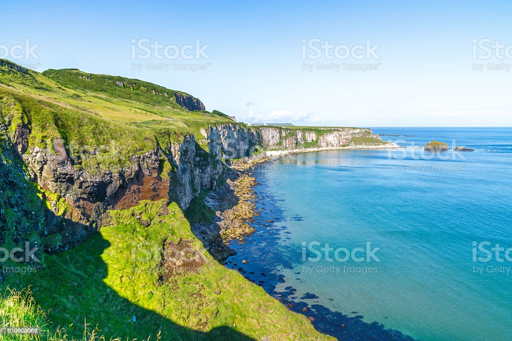 Beautiful landscape of cliffs in Ireland stock photo