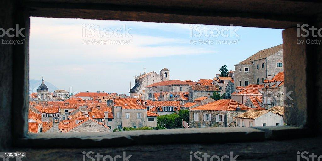 Beautiful Landscape of Dubrovnik stock photo