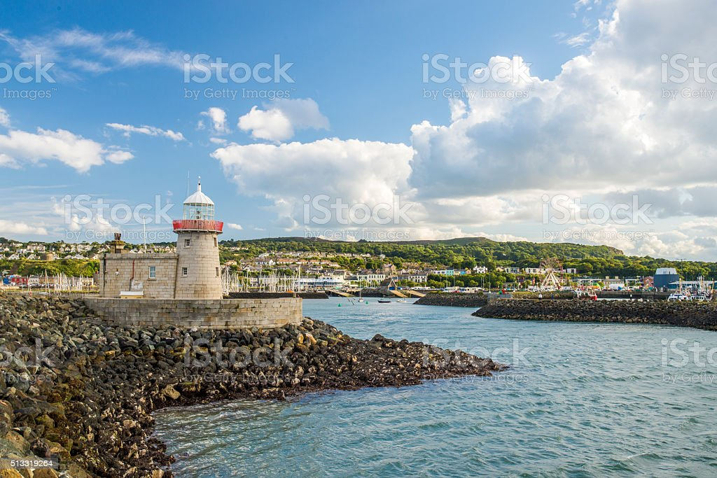 Beautiful landscape of fishing town Howth in Ireland stock photo
