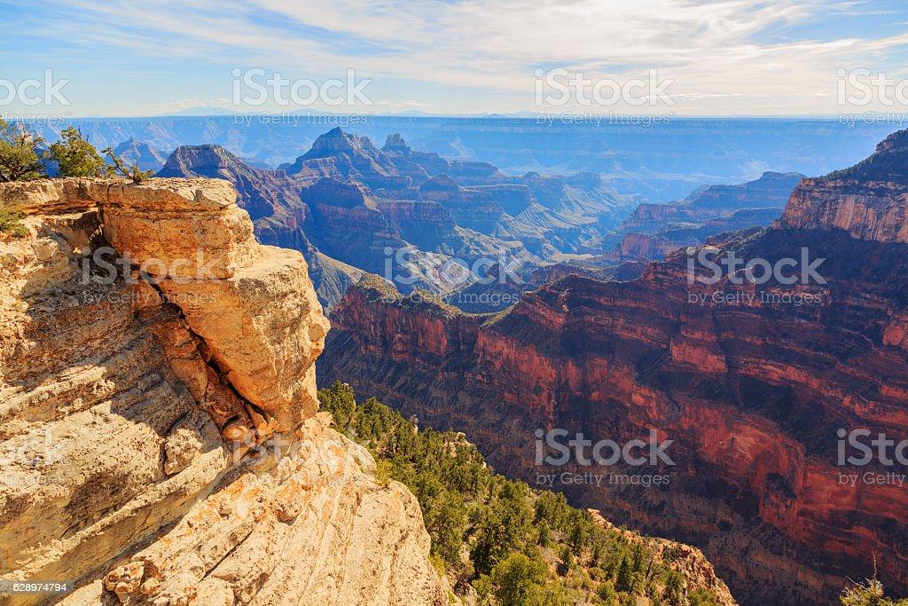 Beautiful landscape of Grand Canyon from North Rim, Arizona stock photo
