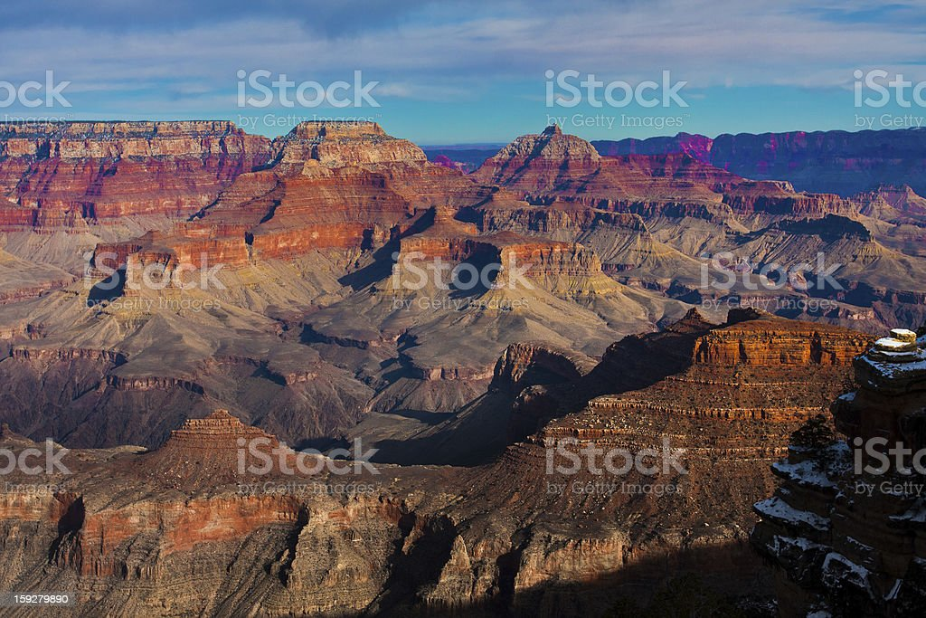 Beautiful Landscape of Grand Canyon in Winter royalty-free stock photo