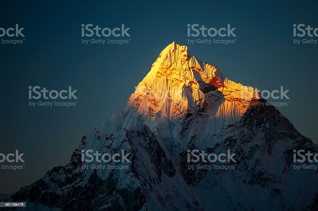 Beautiful landscape of Himalayas mountains stock photo
