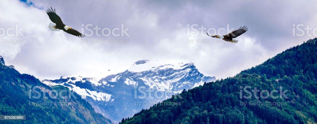 Beautiful landscape of Interlaken, Switzerland stock photo