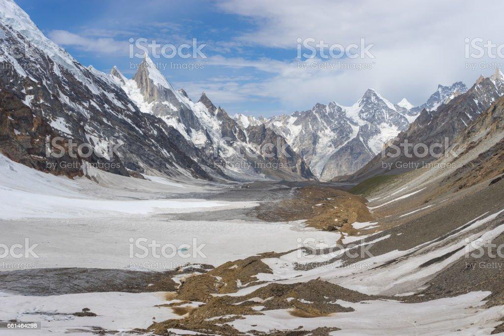 Beautiful landscape of Karakorum mountain range at K2 trekking route, Pakistan stock photo