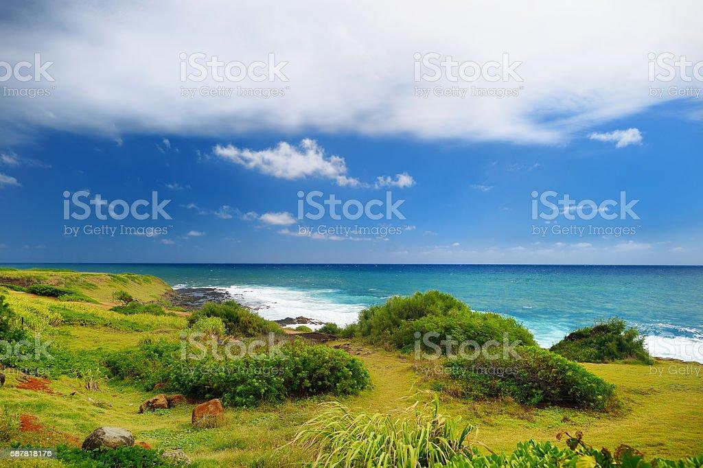 Beautiful landscape of Kauai island stock photo