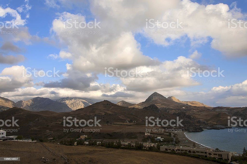 Beautiful landscape of Mediterranean sea royalty-free stock photo