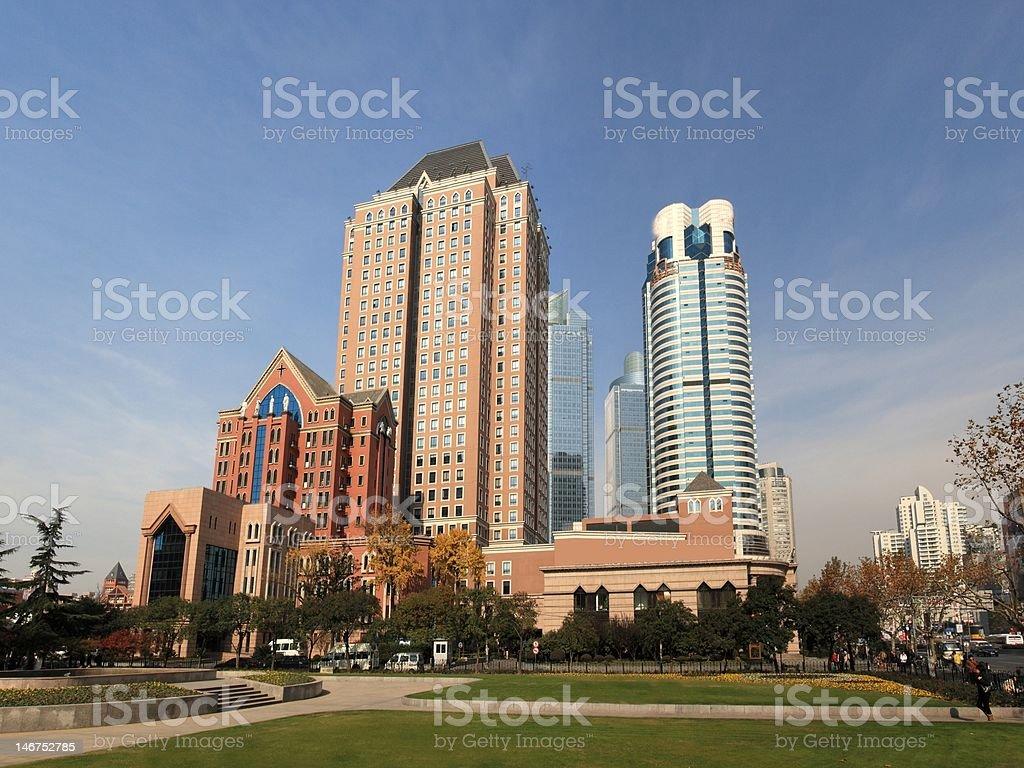 beautiful landscape of modern city royalty-free stock photo