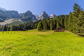 Beautiful landscape of mountains on summertime in Austria, Europe.