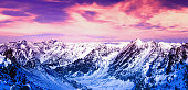 Beautiful landscape of mountains.