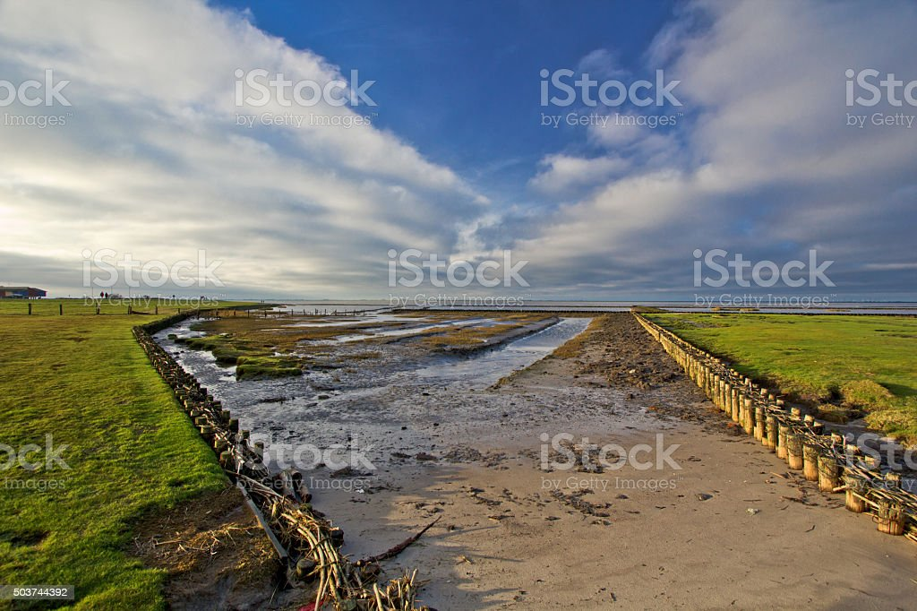 Beautiful landscape of North sea!! stock photo
