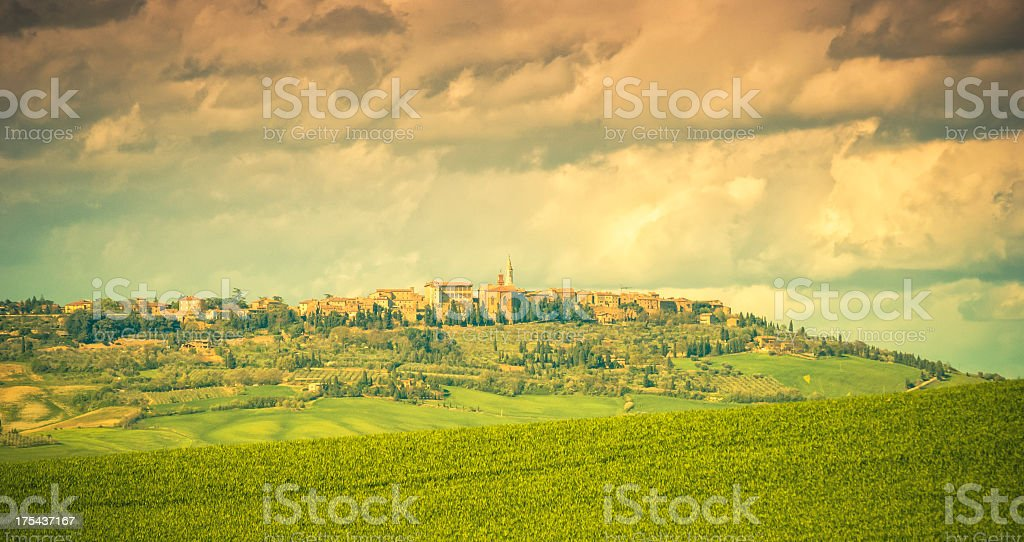 Beautiful landscape of Pienza,Val d'Orcia royalty-free stock photo