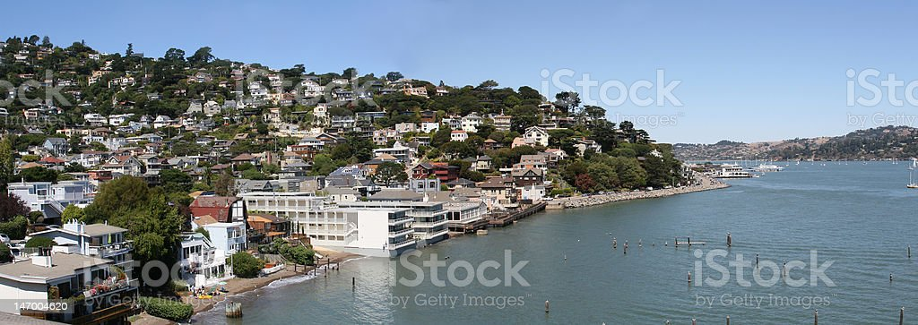 Beautiful landscape of Sausalito. stock photo