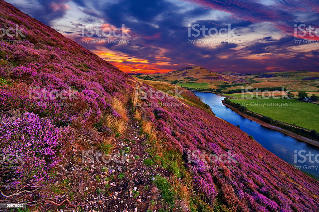 Beautiful landscape of scottish nature stock photo