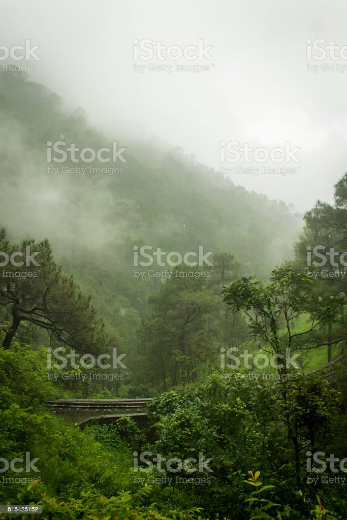 Beautiful landscape of Shimla stock photo