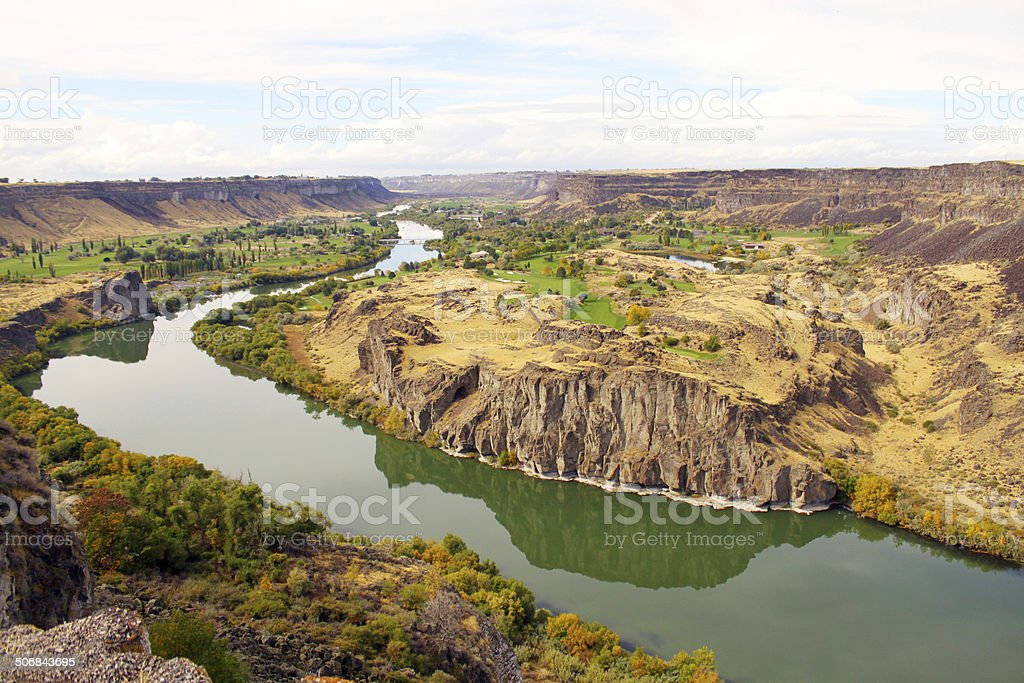 Beautiful Landscape of Snake River Canyon, Idaho, USA stock photo