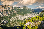 Beautiful landscape of the Gorges Du Verdon in south-eastern