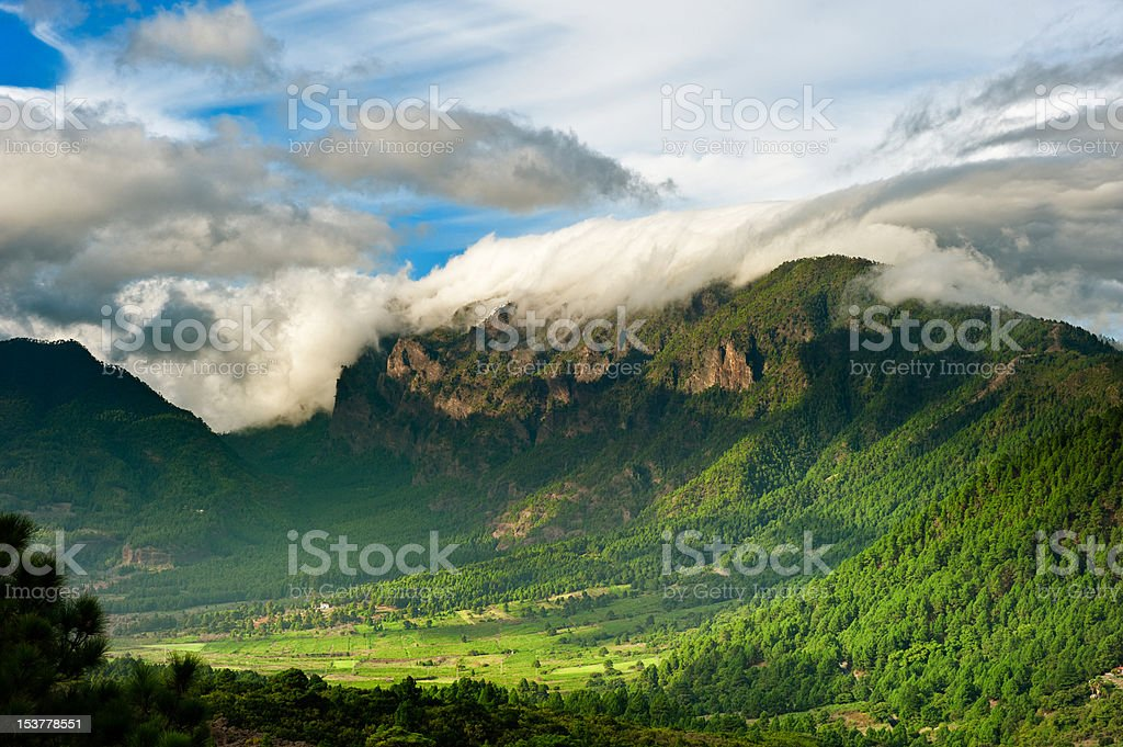 Beautiful landscape of the mountains in La Palma stock photo
