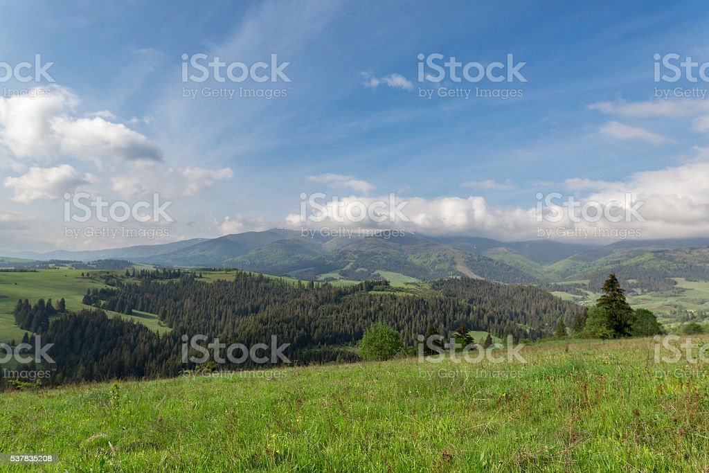 Beautiful landscape on mountain stock photo