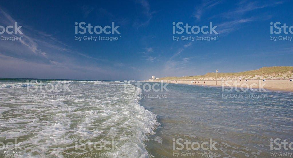 Beautiful landscape on Sylt island at North Sea stock photo