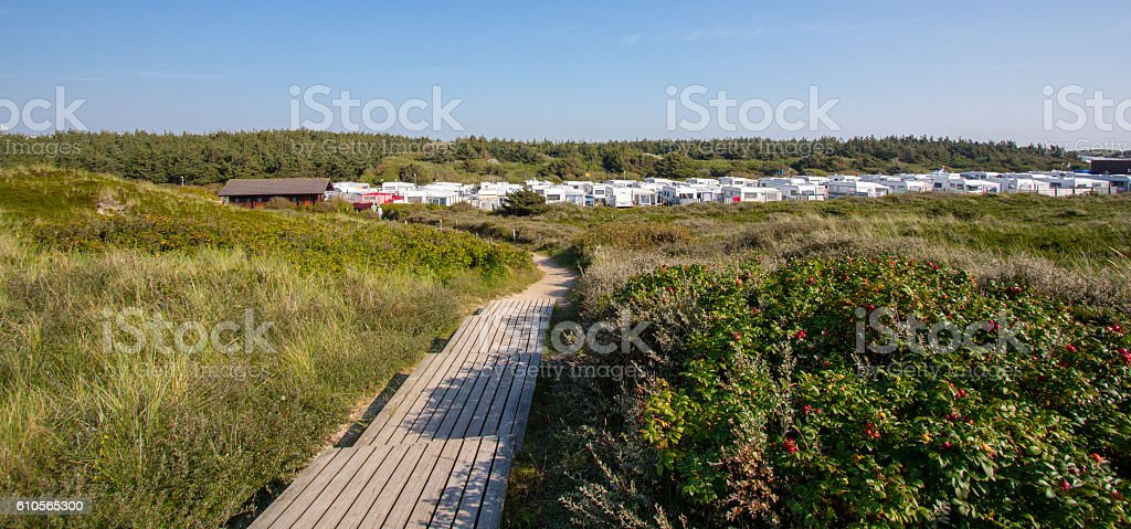 Beautiful landscape on Sylt island stock photo