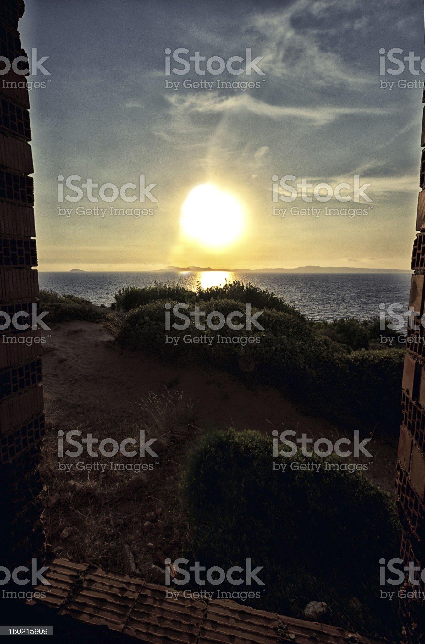 Beautiful landscape sea in Sardinia royalty-free stock photo