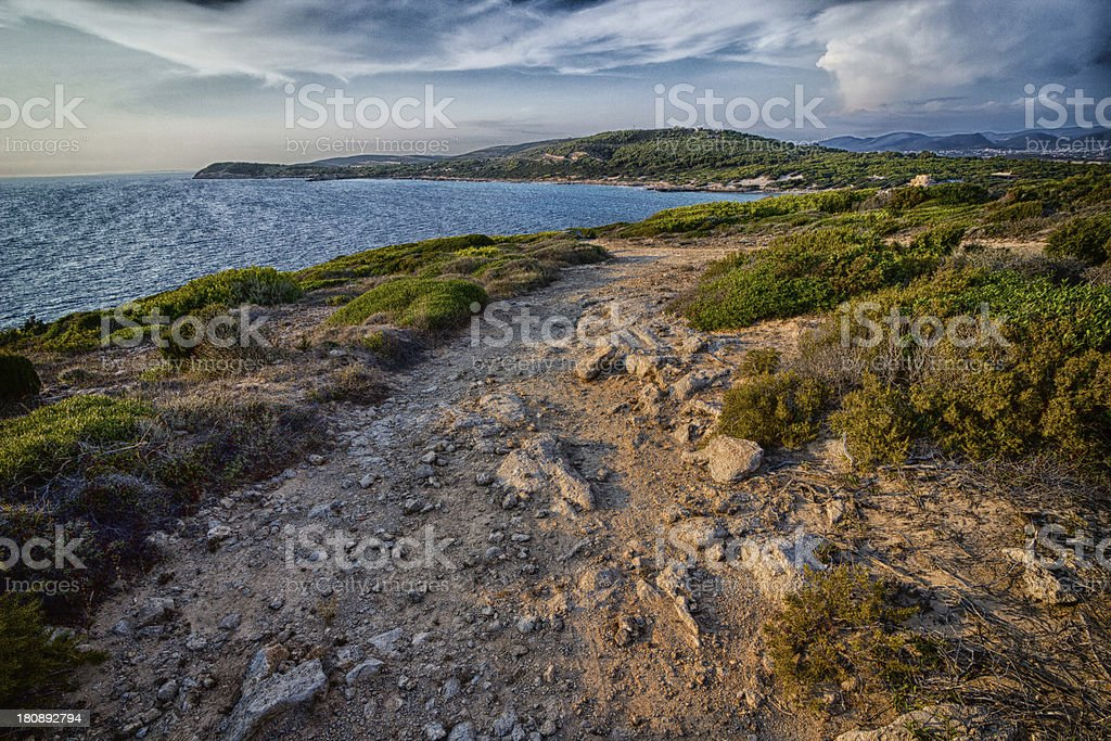 Beautiful landscape sea in Sardinia royalty-free stock photo