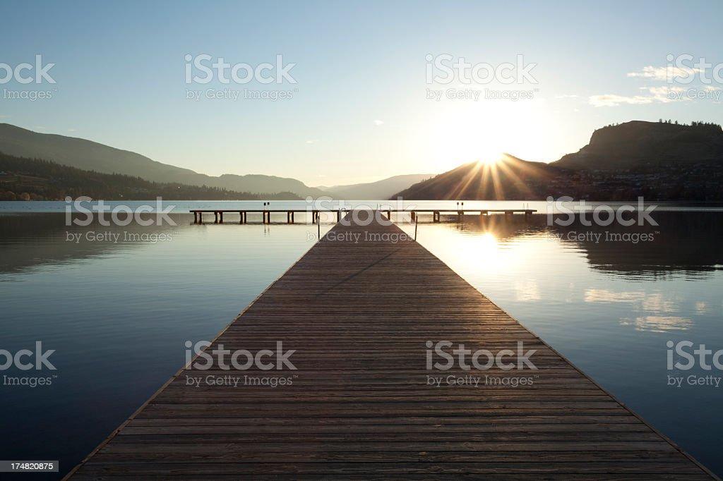 A beautiful landscape shot of Vernon, British Columbia stock photo