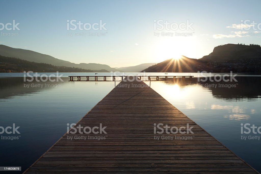 A beautiful landscape shot of Vernon, British Columbia stock photo