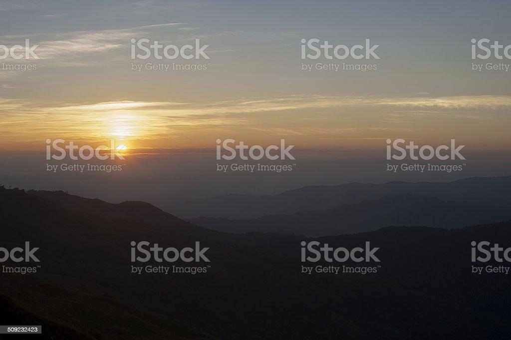 Piękny Krajobraz wschód słońca zbiór zdjęć royalty-free