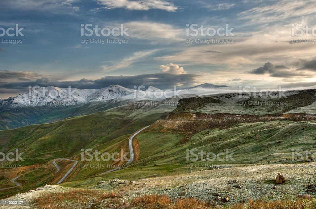 A beautiful landscape view of Armenia stock photo