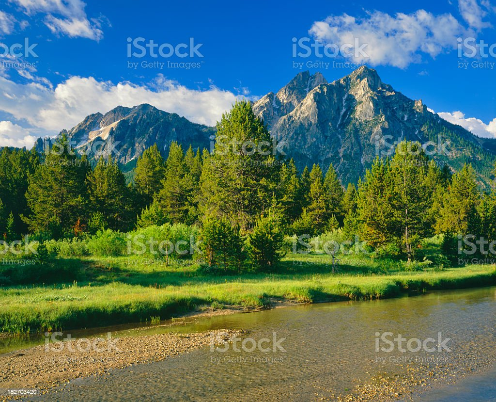 Beautiful landscape view of saw tooth range royalty-free stock photo