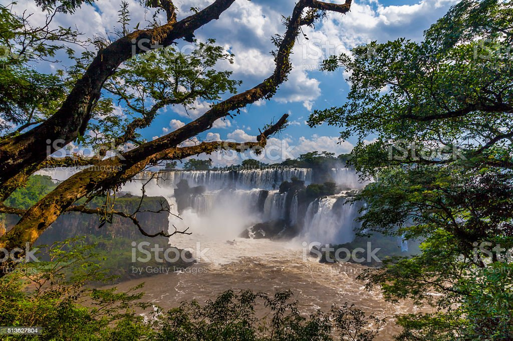 Beautiful landscape with views of the Iguazu Falls. Argentina. stock photo